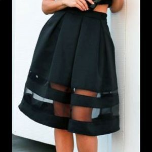 Express Sheer Panel Skirt